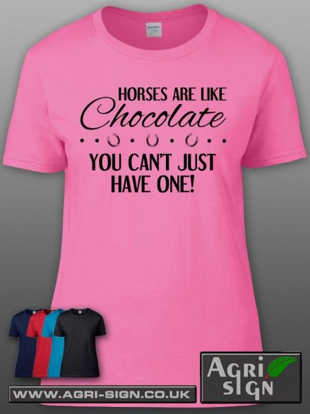 Womens Premium T Shirt - Horses are Like Chocolate